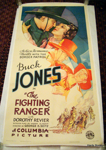 "ORIGINAL MOVIE POSTER: ""THE FIGHTING RANGER"" Buck JONES."
