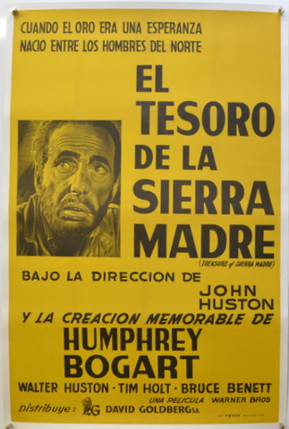 "ORIGINAL MOVIE POSTER: ""THE TREASURE OF THE SIERRA MADRE"" B. TRAVEN."