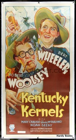 "ORIGINAL MOVIE POSTER: ""KENTUCKY KERNELS"" Wheeler, Woolsey."