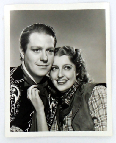 "(Movie Still Photograph) ""THE GIRL OF THE GOLDEN WEST"" Nelson EDDY, Jeanette MacDonald."