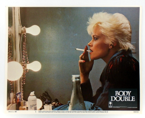 "ORIGINAL MOVIE LOBBY CARD POSTER: ""BODY DOUBLE"" Melanie GRIFFITH."