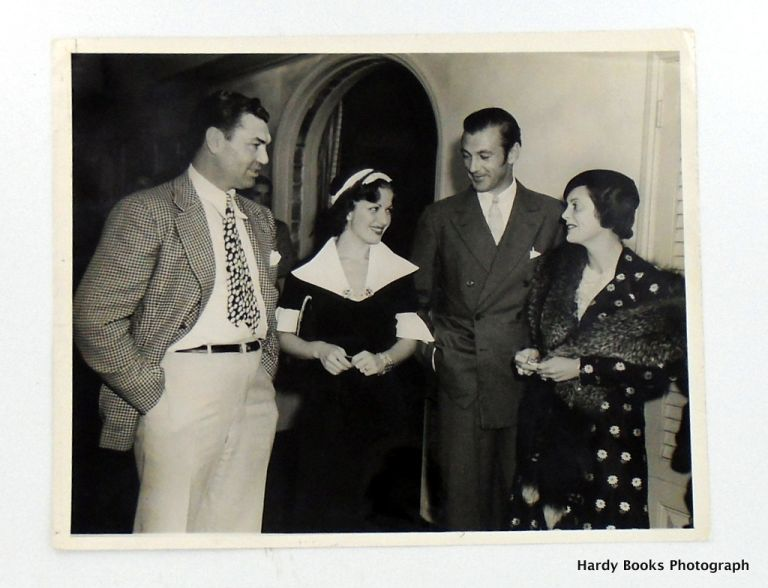 ORIGINAL PHOTOGRAPH; GARY COOPER, JACK DEMPSEY & THEIR WIVES AT CAFE TROCADERO. Gary COOPER, Jack DEMPSEY.