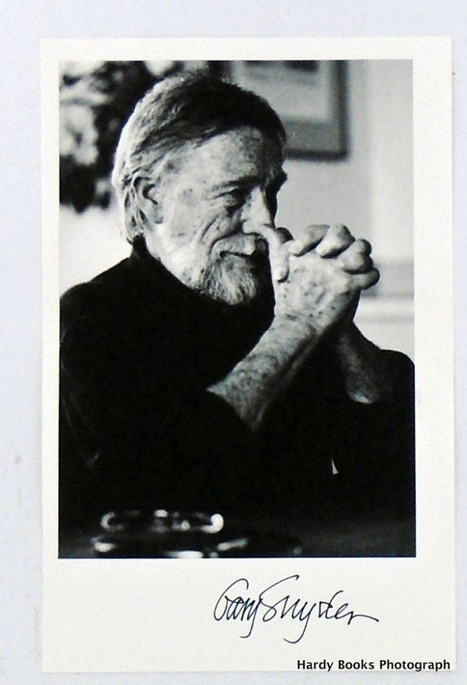 SIGNED PHOTOGRAPH. Gary SNYDER.