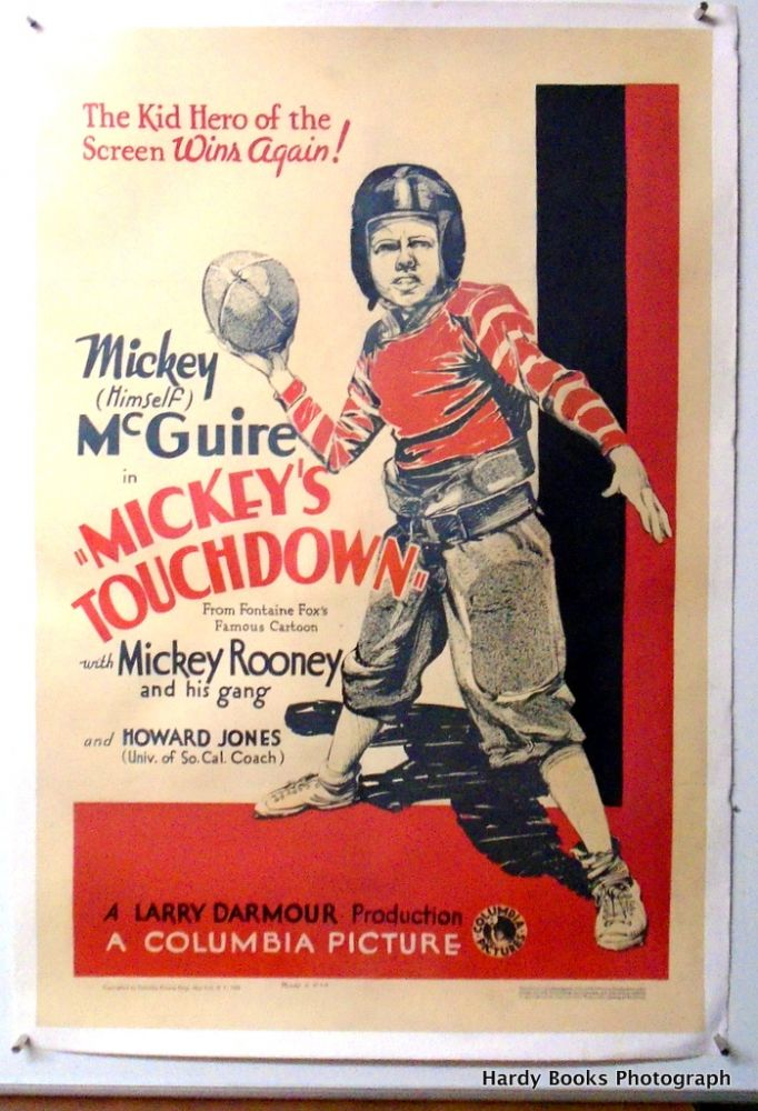 "ORIGINAL MOVIE POSTER: ""MICKEY'S TOUCHDOWN"" Mickey ROONEY, Howard JONES."