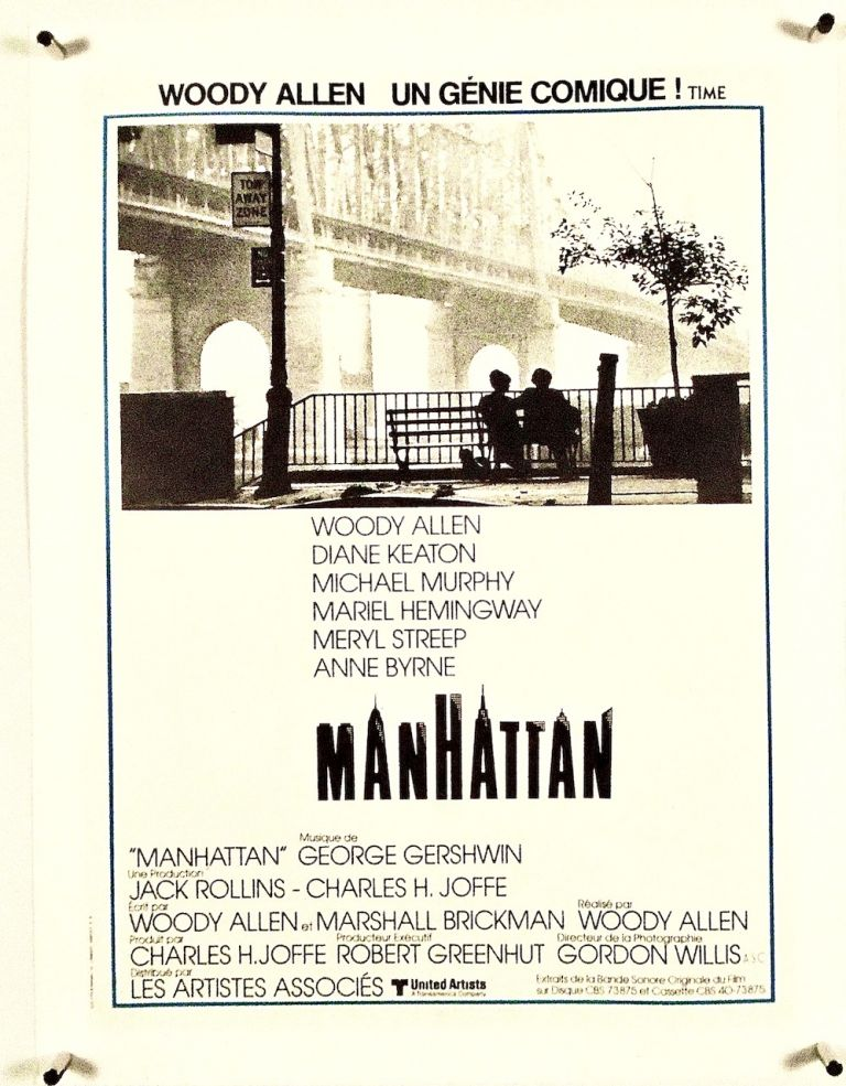 "ORIGINAL FRENCH POSTER ""MANHATTAN"" LINEN-BACKED. Woody ALLEN."