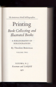 MUSIC AND DRAMA. A Bibliography of Bibliographies. Books About Books, Theodore BESTERMAN.