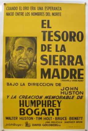 "ORIGINAL MOVIE POSTER: ""THE TREASURE OF THE SIERRA MADRE"" LINEN BACKED. B. TRAVEN"