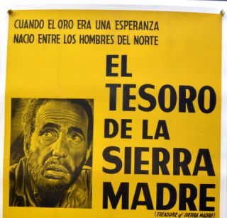 "ORIGINAL MOVIE POSTER: ""THE TREASURE OF THE SIERRA MADRE"""