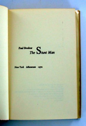 (Books to Film) THE STUNT MAN