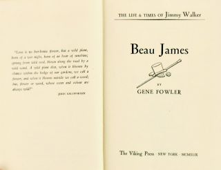 (Books to Film) BEAU JAMES; The Life and Times of Jimmy Walker