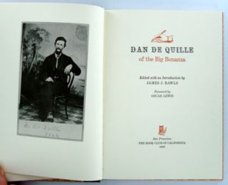DAN DE QUILLE OF THE BIG BONANZA