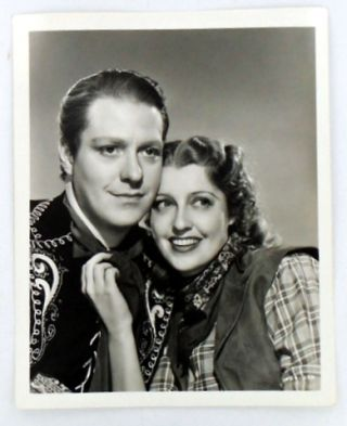 "Movie Still Photograph) ""THE GIRL OF THE GOLDEN WEST"" Nelson EDDY, Jeanette MacDonald"