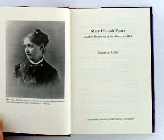 MARY HALLOCK FOOTE. AUTHOR-ILLUSTRATOR OF THE AMERICAN WEST