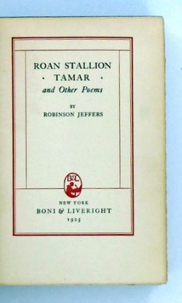 ROAN STALLION TAMAR AND OTHER POEMS
