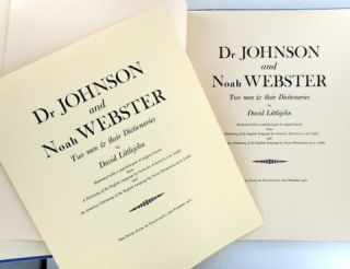 (Leaf Book) DR JOHNSON AND NOAH WEBSTER; Two Men & Their Dictionaries