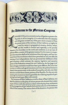 EXPOSITION ADDRESSED TO THE CHAMBER OF DEPUTIES OF THE CONGRESS OF THE UNION BY SENOR DON CARLOS ANTONIO CARILLO, DEPUTY FOR ALTA CALIFORNIA CONCERNING THE REGULATION AND ADMINISTRATION OF THE PIOUS FUND