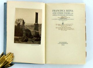 (California Poetry) FRANCISCA REINA AND OTHER POEMS