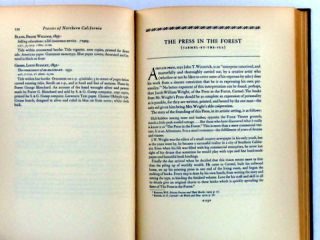 PRESSES OF NORTHERN CALIFORNIA AND THEIR BOOKS 1900-1933