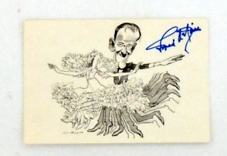 AUTOGRAPHED PROMO CARD. Fred ASTAIRE, David LEVINE, Art.