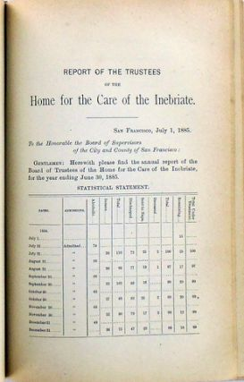 SAN FRANCISCO MUNICIPAL REPORTS FOR THE FISCAL YEAR 1884-1885, ENDING JUNE 30, 1885.