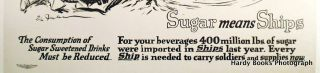 """SUGAR MEANS SHIPS"" ORIGINAL WWI POSTER"