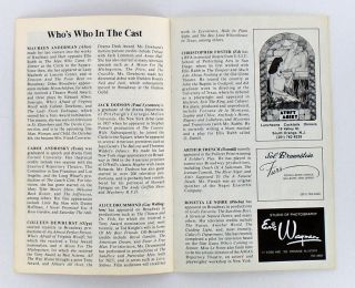 "ORIGINAL PROGRAM: ""YOU CAN'T TAKE IT WITH YOU"" SIGNED BY JASON ROBARDS"
