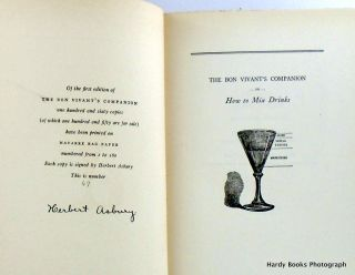 THE BON VIVANT'S COMPANION OR HOW TO MIX DRINKS.