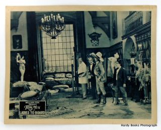 """LADIES TO BOARD"" ORIGINAL LOBBY CARD. Tom MIX"