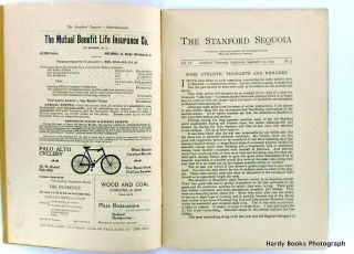 ORIGINAL: THE STANFORD SEQUOIA SEPTEMBER 29, 1899; Volume IX, No. 4.