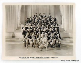 "ORIGINAL MOVIE STILL PHOTOGRAPH: ""READY, WILLING AND ABLE"" (1937). Ruby KEELER"