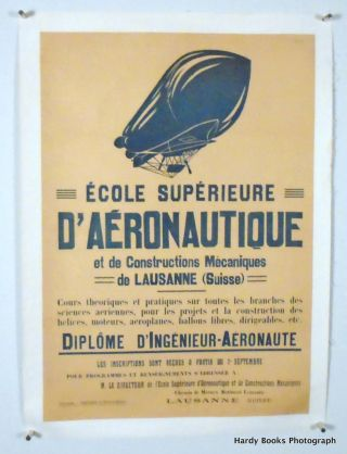 ORIGINAL POSTER: HIGHER SCHOOL OF AERONAUTICS AND MECHANICAL ENGINEERING OF LAUSANNE...