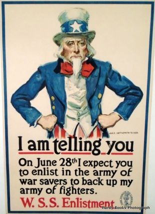 "ORIGINAL POSTER: ""I AM TELLING YOU"". 1918. LINEN-BACKED WWI"