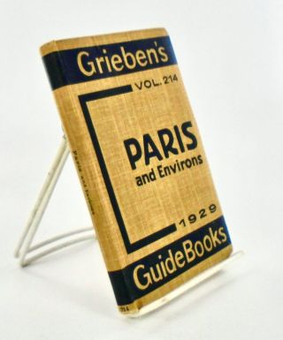 PARIS AND ENVIRONS 1929 GRIEBEN'S GUIDE BOOKS VOL. 214. GRIEBEN-VERLAG