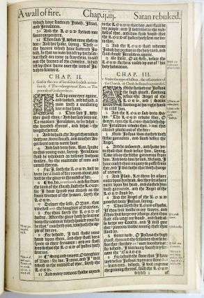 "A LEAF FROM THE 1611 KING JAMES BIBLE WITH ""THE NOBLEST MONUMENT OF ENGLISH PROSE"" BY JOHN..."