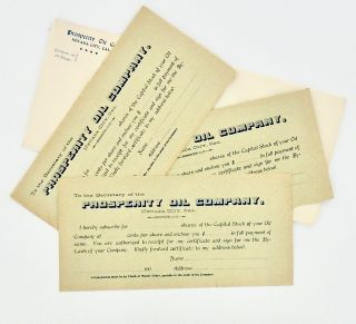 "1900 ""PROSPERITY OIL COMPANY"" PROSPECTUS WITH ADDITIONAL RELATED ITEMS"