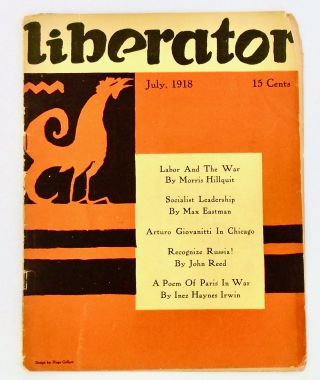 """THE LIBERATOR"". ORIGINAL MAGAZINE. JULY, 1918. Max EASTMAN"