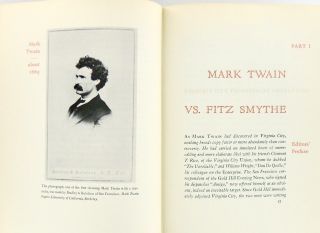 MARK TWAIN: SAN FRANCISCO CORRESPONDENT; Selections From His Letters To The Territorial Enterprise: 1865 - 1866