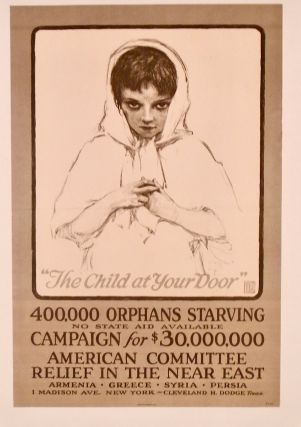 "ORIGINAL WWI POSTER: ""THE CHILD AT YOUR DOOR"" 1917 LINEN-BACKED"
