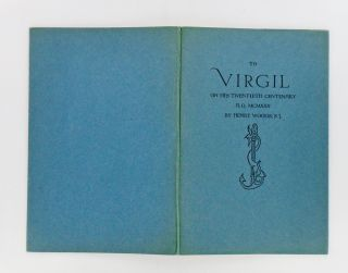 TO VIRGIL ON HIS TWENTIETH CENTENARY