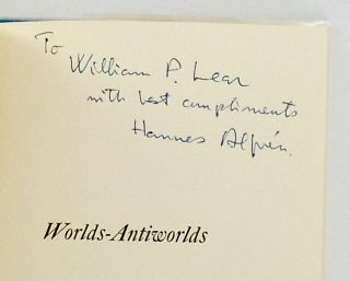 WORLDS-ANTIWORLDS. NOBEL PRIZE WINNER. SIGNED