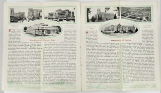 ORIGINAL STOCKTON CALIFORNIA CHAMBER OF COMMERCE BROCHURE . CIRCA 1925.