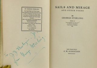SAILS AND MIRAGE AND OTHER POEMS (SIGNED)